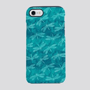 Blue Green Dragonfly Dance iPhone 7 Tough Case