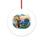 St Francis #2 / Cavalier (BT) Ornament (Round)