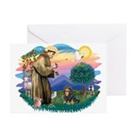 St Francis #2 / Cavalier (BT) Greeting Cards (Pk o