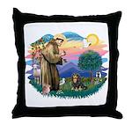 St Francis #2 / Cavalier (BT) Throw Pillow