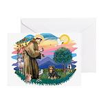St Francis #2 / Cavalier (BT) Greeting Card