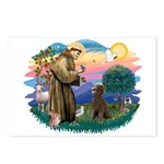 St Francis #2 / Poodle (ST-Ch) Postcards (Package