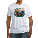 St Francis #2 / Poodle (ST-Ch) Fitted T-Shirt