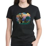 St Francis #2 / Poodle (ST-Ch) Women's Dark T-Shir