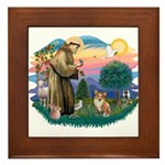 St. Francis #2 / Corgi (Pem) Framed Tile