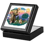 St. Francis #2 / Corgi (Pem) Keepsake Box