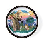 St. Francis #2 / Corgi (Pem) Wall Clock