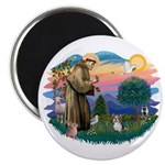 St Francis #2 / Yorkie (Brewer) Magnet