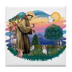 St Francis #2 / Yorkie (Brewer) Tile Coaster