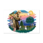 St Francis #2 / Yorkie (Brewer) Mini Poster Print