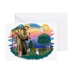 St Francis #2 / Yorkie (Brewer) Greeting Card