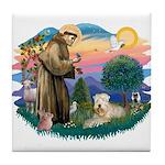 St Francis #2 / Wheaten Tile Coaster