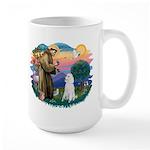 St Francis #2 / Poodle (STD W) Large Mug