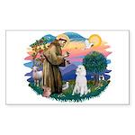 St Francis #2 / Poodle (STD W) Sticker (Rectangle)