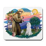St Francis #2 / Poodle (STD W) Mousepad