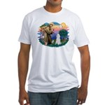 St Francis #2 / Poodle (STD W) Fitted T-Shirt