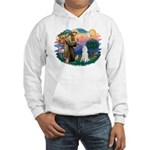 St Francis #2 / Poodle (STD W) Hooded Sweatshirt