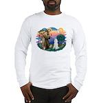 St Francis #2 / Poodle (STD W) Long Sleeve T-Shirt