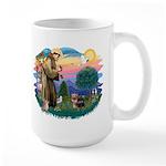 St Francis #2 / Yorkshire Terrier #9 Large Mug