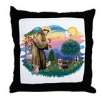 St Francis #2 / Yorkshire Terrier #9 Throw Pillow