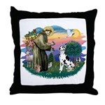 St Francis #2 / Great Dane (H) Throw Pillow