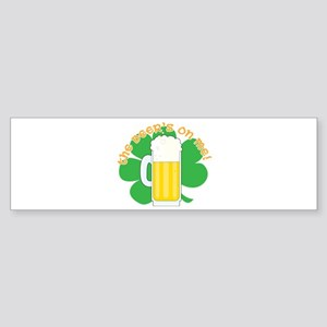 The Beer's on Me!! Sticker (Bumper)