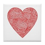 Red Scribble Tile Coaster