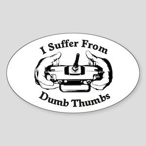 Dumb Thumbs Sticker (Oval)