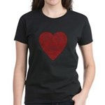 Red Scribble Women's Dark T-Shirt
