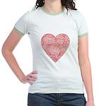 Red Scribble Jr. Ringer T-Shirt