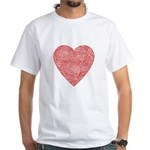 Red Scribble White T-Shirt