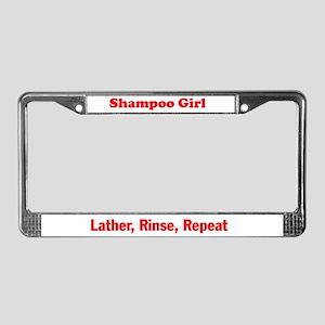 Shampoo Girl License Plate Frame