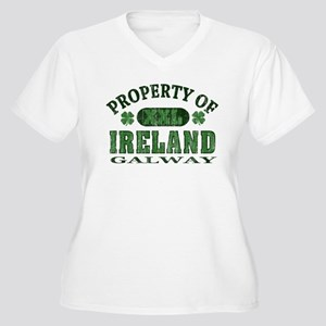 Property of Galway Women's Plus Size V-Neck T-Shir