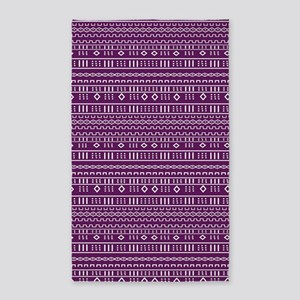 Purple Modern Mudcloth Area Rug