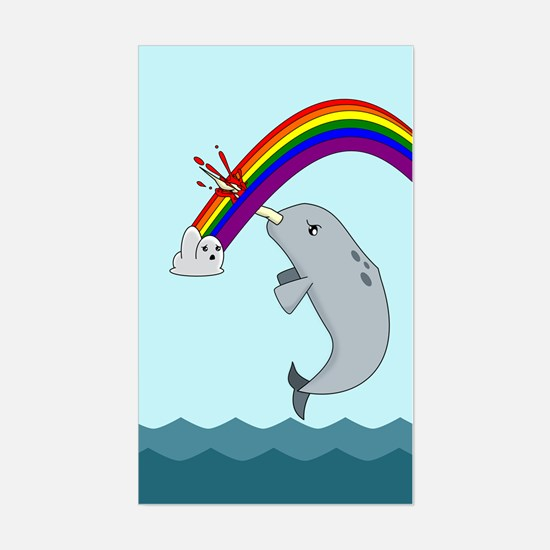Unique Narwhals are awesome Sticker (Rectangle)