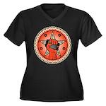 Rise Up Revolution Women's Plus Size V-Neck Dark T