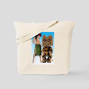 Wahine and Tiki Tote Bag