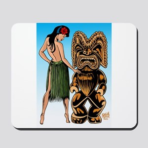 Wahine and Tiki Mousepad