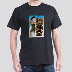 Wahine and Tiki Dark T-Shirt