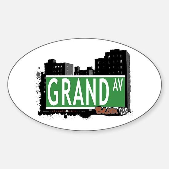 Grand Av, Bronx, NYC Sticker (Oval)