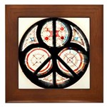 Jewish Peace Window Framed Tile