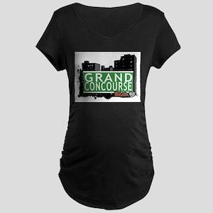 Grand Concourse, Bronx, NYC Maternity Dark T-Shirt