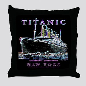 Titanic Neon (black) Throw Pillow