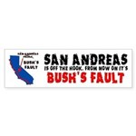 Bush's Fault Sticker (Bumper)