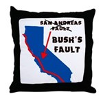 Bush's Fault Throw Pillow