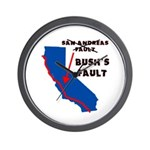 Bush's Fault Wall Clock