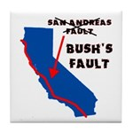 Bush's Fault Tile Coaster