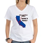Bush's Fault Women's V-Neck T-Shirt