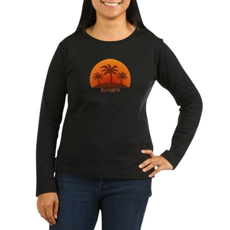 Bonaire Women's Long Sleeve Dark T-Shirt