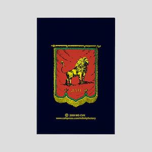 Reggae Jah Lion Banner Rectangle Magnet